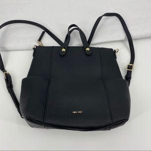 Nine West vegan leather black backpack or handbag